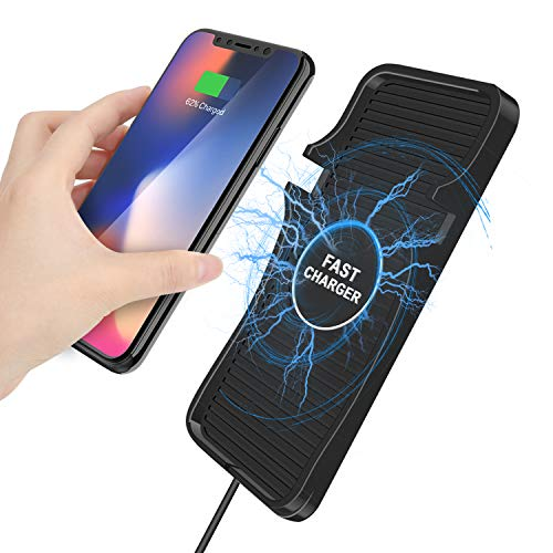 Fast Wireless Car Charger Mount,10W Qi Wireless Charging Pad Stand Station Car Cell Phone Holder for iPhone 11/11 Pro/11 Pro Max/XS Max/XS/XR/X, Galaxy S10/S9/S8/Note 10/9 and All Qi-Enabled Devices