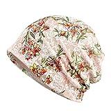 TENDYCOCO Gorro de Quimioterapia Algodón Suave Quimioterapia Sombrero Encaje Turbante Sombrero Gorro Floral para Mujer