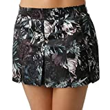 Nike Women's Flex Floral Print Tennis Skirt (L, Black)