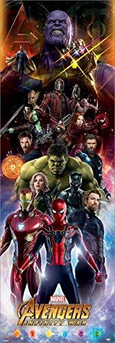 Laminiert The Avengers Avengers Infinity War Characters Türposter 53 x 158 cm