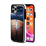 Sports Themed Basketball Cute Case for iPhone 11 Case Leather Wallet with Card Holder for Women Men