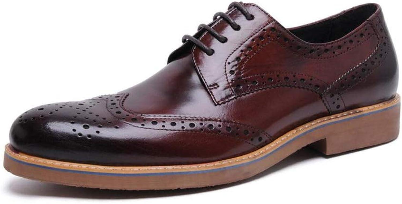 FLYSXP Bullock Schnitzte Herrenschuhe Herren England Wies Wies Atmungsaktive Schuhe Für Freizeitschuhe An Herren Lederstiefel (Farbe   Gelb, Größe   40 EU)  unglaubliche Rabatte