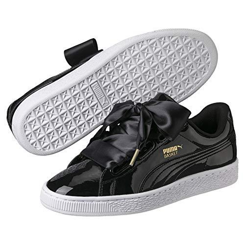 Puma Basket Heart Patent Low-Top Sneaker, Schwarz - 2