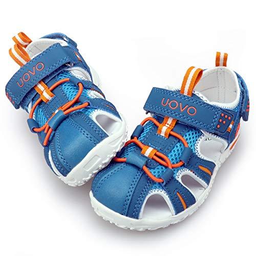 Jungen Sandalen Trekking Wandern Kinder Sandalen Outdoor Geschlossene Zehe Sandalen Sportliche Sommerschuhe Blau 27