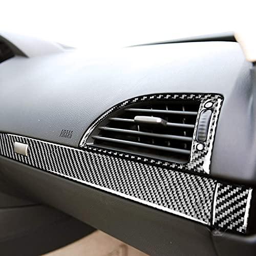 Fibra de carbono Trim Cover Sticker Anti-Scratch Durable Accesorios Co-Pilot Caja de almacenamiento Productos para BMW M6 6 series E63 E64 2004 2005 2006 2007 2008 2009 2010 (con ventilación LHD)