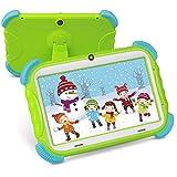 Kinder Tablet Android 9.0 Lerntablet für Kids 2GB RAM +16GB ROM 7 Zoll HD IPS Touchscreen mit WiFi Kamera Bluetooth Kindersicher Hülle Jungen Mädchen, ZONKO Kind Tablet Grün