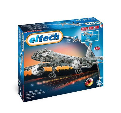 Eitech Eitech-C10 Aviones C10 570pieza(s) - Juegos de construcción (570 Pieza(s), Metálico, Metal, 460 mm, 440 mm, 120 mm), Color, aeronave (00010)
