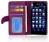 Cadorabo Coque pour Sony Xperia M5 en ORCHIDÉE Violets - Housse Protection avec Fermoire...