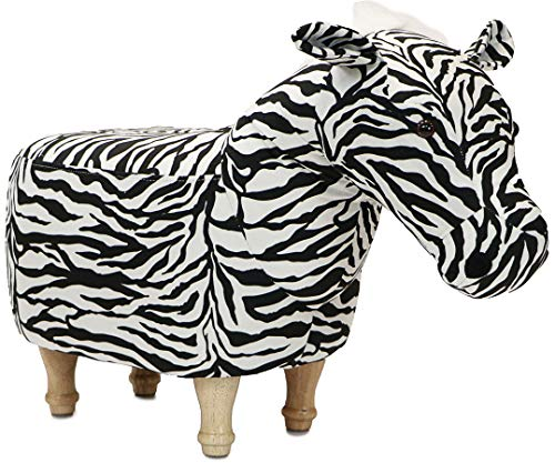 Zebra Footstool