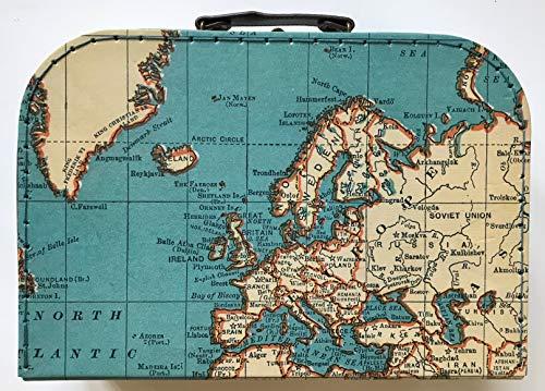 Sass and Belle Koffer/Kinderkoffer/Puppenkoffer/Aufbewahrungsbox. Pappkoffer, 3 Verschiedene Größen. (Vintage Map, L)