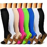 QUXIANG Copper Compression Socks Women & Men...
