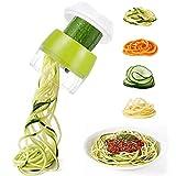 Cortador de verduras en espiral, 3 en 1, espaguetis de verduras, espiralizador, legumbre, cortador de verduras, cortador para calabazas, espaguetis, zanahorias, pepino.