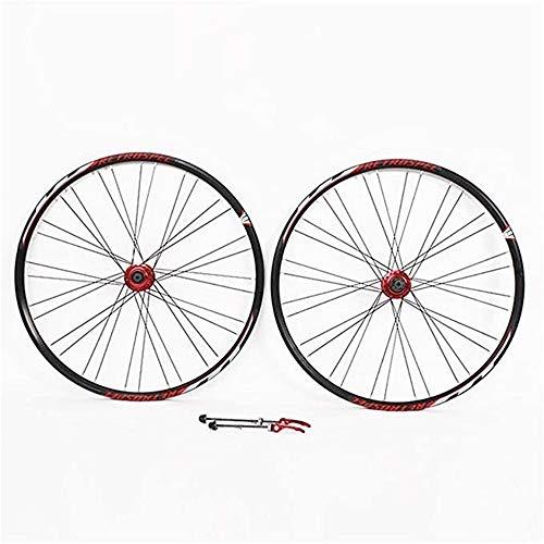 ZCBDNB Rueda De Bicicleta De Montaña, Conjunto Aluple Llamada Cojinete Rodamiento Spinning Flywheel Set De Ruedas De Bicicleta Freno De Disco Freno De Disco Rápido,26'