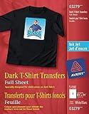 Avery Dark T-Shirt Transfers for Inkjet Printers, White, 5 Pack (3279)