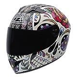 NZI 050264G582 Vital Mexican Skulls - Casco de Moto, Multicolor, Talla 58-59 (L)