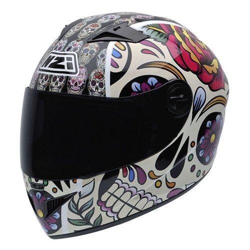 Casco de moto vital mexican skulls