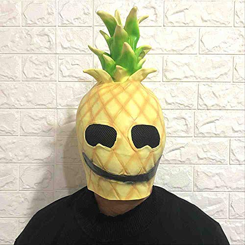 ZGWS Halloween-Tomaten-Masken-Kopf-Satz-Make-upball-Nette Tomaten-Kopfschmuck-Bar-lustige Show-Requisiten- Ananas-Kopf-Maske,Pineapple Head Mask