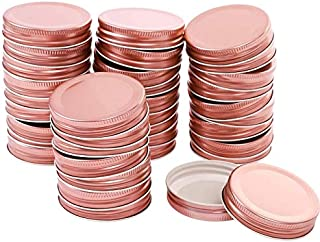 Regular Mouth Mason Jar Lids, Reuseable Metal Mason Jar Canning with Silicone Gasket Lids Continuous Thread, Pack of 24 (R...
