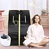 Cabina per Sauna Portatile, Sauna a Vapore, Sauna Spa Machine Sauna Domestica Sauna a Vapore Portatile (Nero)