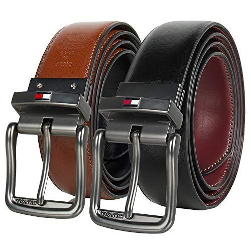 TOMMY HILFIGER Men's Reversible Belt, 90, Small (30-32)