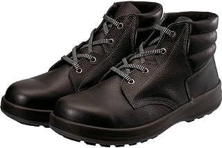 [シモン] 安全靴 中編上 紐 JIS規格 耐滑 快適 軽快 紐 WS22黒 黒 27 cm 3E