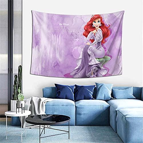 Tapiz de princesa Ariel para colgar en la pared, decoración de pared de apartamento, dormitorio, decoración de pared para sala de estar, dormitorio