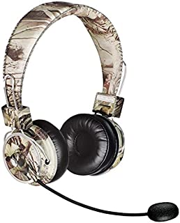 Blue Tiger Dual Elite Wireless Bluetooth Headset – Premium Noise Cancelling Headphones with No Wires - Ideal Driving, Gaming and Music Accessories – 50 Hour Talk Time - Tree Camo