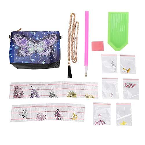 Bolso bandolera con pintura de diamante 5D, bolso de hombro con cadena para mujer, organizador de cosméticos con forma especial, regalo artesanal DIY