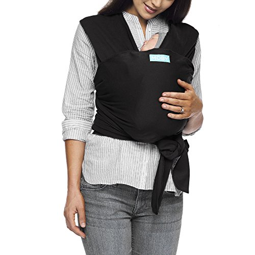 Moby Classic Baby Wrap (Black) - Baby Wearing Wrap for Parents On The Go-Baby Wrap Carrier for Newborns, Infants, and Toddlers - Baby Carrying Wrap Ideal for Baby Wearing & Breastfeeding