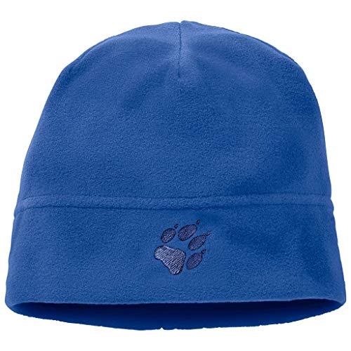 Jack Wolfskin Kinder REAL Stuff Kids Fleecemütze, Coastal Blue, ONE Size (49-55CM)