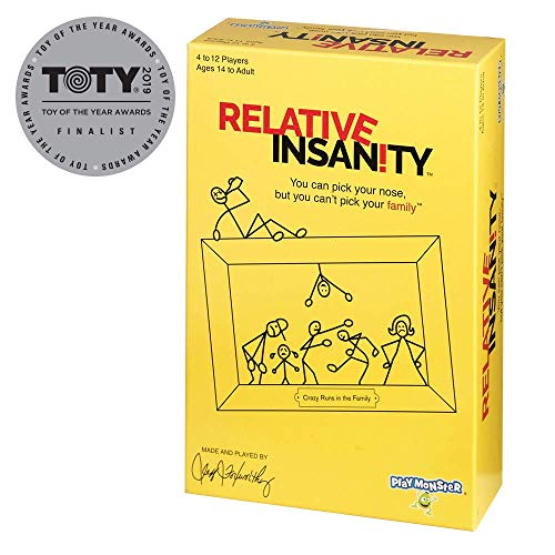 PlayMonster Relative Insanity Party Game About Crazy Relatives For Teens