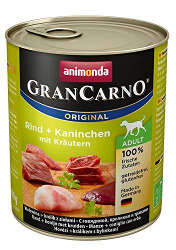 Animonda Gran Carno - Cibo per Cani, coniglio + erbe, 6 x 800 g