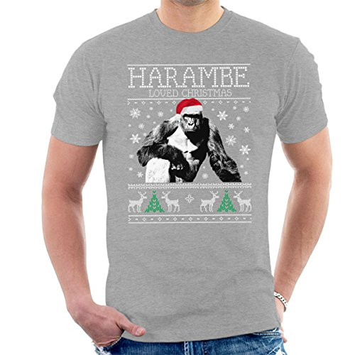 Harambe Loved Christmas Knit Men's T-Shirt
