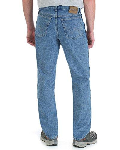 Wrangler Men's Rugged Wear Classic Fit Jeans, Stonewash, W44 L30