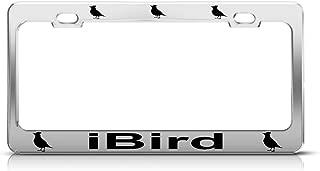 Speedy Pros Metal License Plate Frame Ibird Birds Car Accessories Chrome 2 Holes