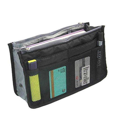 Sumbest Handtaschenordner, Einlage, Einsatz 12 Taschen groß 28x17x10cm (schwarz)