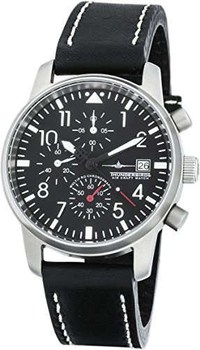 Thunderbirds MultiPro Chrono Herren Armbanduhr Chronograph Fliegeruhr VD57 40mm