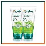 HIMALAYA HERBALS Gel purificante de lavado de cara de Neem | Limpia profundamente los poros y el acné | Lavado facial a base de hierbas | 150g (2-Pack Purifying Neem Face Wash Gel)