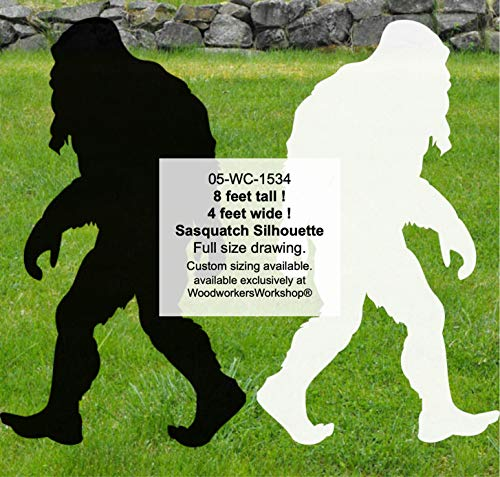WoodworkersWorkshop Woodworking Plan to Make Your Own 8 ft Tall Bigfoot Sasquatch (Sasquit) Yard Art INCLUDES Tracing Paper