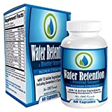Natural Water Retention Pills/Supplement - Bloating Relief and Water Weight Loss Support - Diuretic Water Pills/Supplements - 60 Capsules