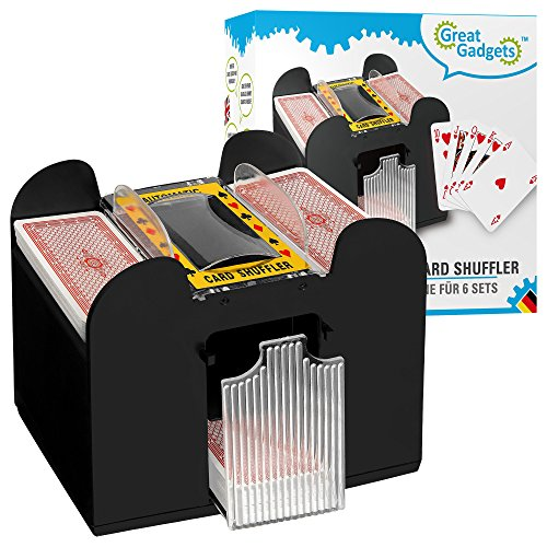 GreatGadgets 2128 Carte Automatique 6-Deck Shuffler Noir