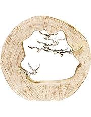 Kare Decoratief object Birds In Log, meerkleurig, één maat