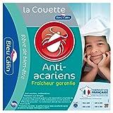 Bleu Câlin Couette 1 Personne Anti-Acariens Cliniguard, Blanc, 140x200 cm, KKMS40