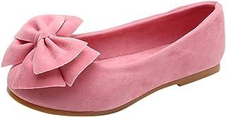 Qitun Filles Ballerines Chaussures de Princesse /Étudiants Chaussures Chaussures Simili Cuir Souple Sandale C/ér/émonie Mariage