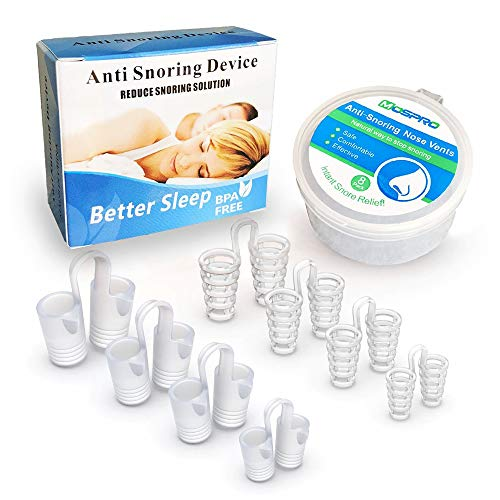 8 Pack Nose Vents to Ease Breathing Anti Snoring Nose Vents with Different Size Breathing Relief Nasal Dilator Includes Travel Case
