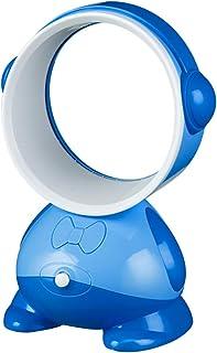 HUI JIN Ventilador portátil sin hojas USB de carga de mano Mini radiador ventilador de viaje al aire libre hogar dormitorio azul