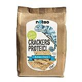 NATO Crackers proteicos – 2 paquetes de 200 g – Con harina de avena – Vegan – Pocos azúcares (venas y semias)