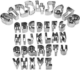 HUAFA 抜き型 35個セット ミニ 記号 アルファベット 数字 クッキー型 キャラ弁 ステンレス ベーキング