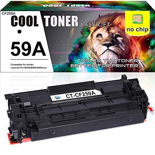(Kein Chip) Cool Toner Kompatibel Tonerkartusche Replacement für HP CF259A CF259X 59A 59X für HP Laserjet Pro M404 M404n M404dn M404dw HP Laserjet Pro MFP M428 M428dw M428fdn M428fdw, 3000 Seite