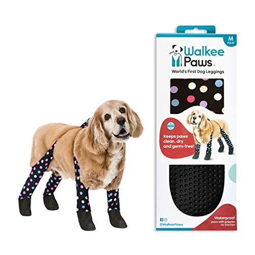 Walkee Paws Snug Fit Dog Leggings, The World's First Dog Leggings That are Dog Shoes, Dog Boots and Dog Socks All in One, As Seen on Shark Tank (Confetti, M)